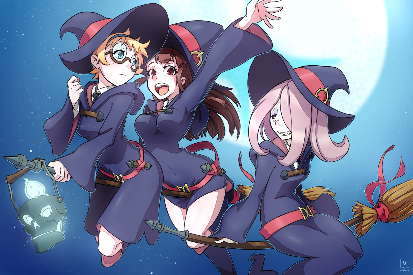 little witch academia lotte sucy akko