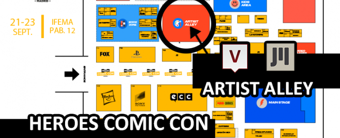 mapa heros comicon madrid