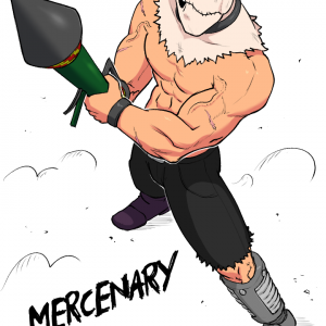 marcenary with bazooka arm