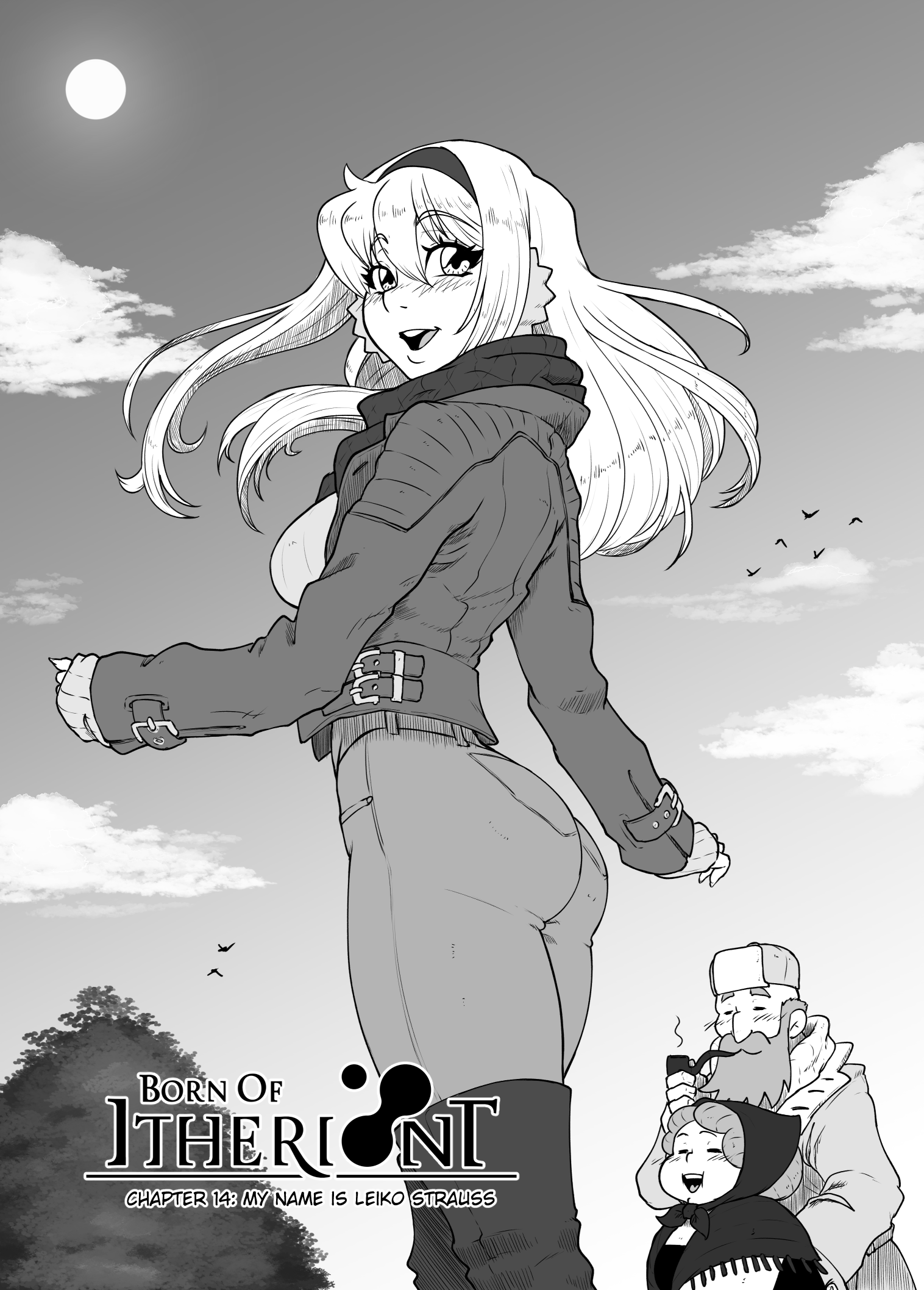 black and white version cover chapter 14