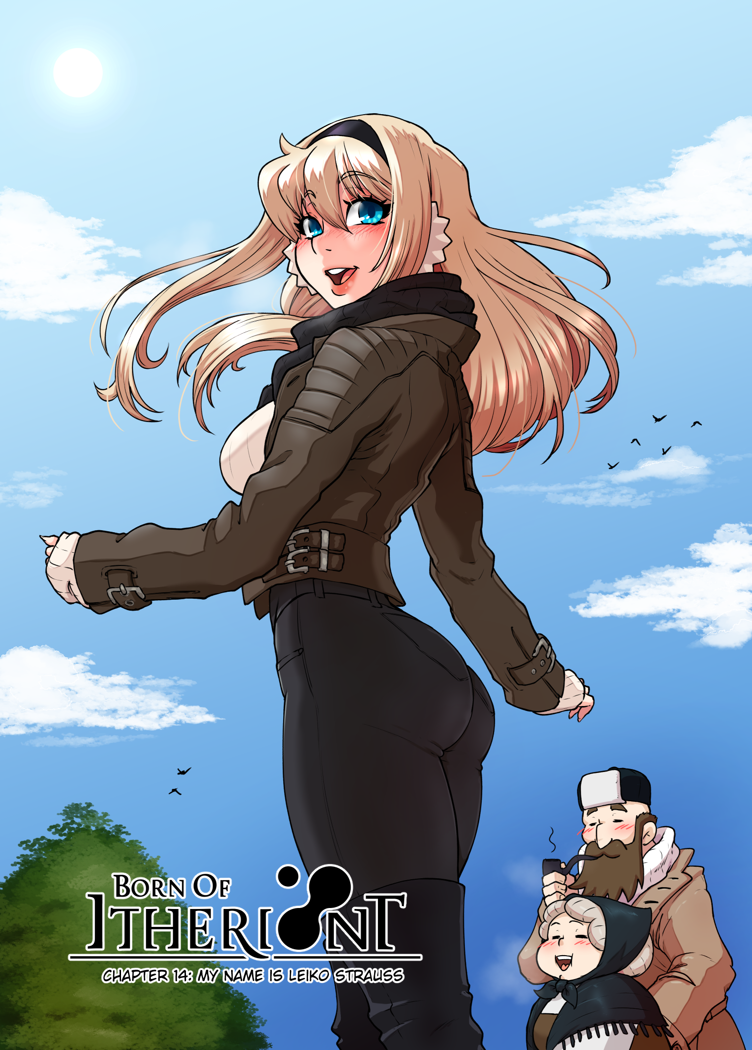 Cover of chapter 14, with fashionable leiko